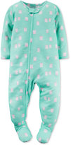 Carter's Baby Girls' 1-Pc. Owl-Print Footed Pajamas