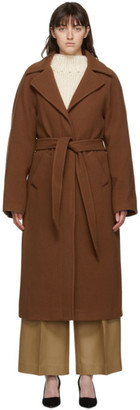 Victoria Victoria Beckham Brown Wool Oversized Teddy Coat