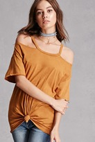Forever 21 FOREVER 21+ Open-Shoulder Knotted Tunic