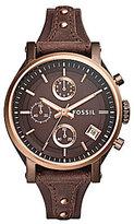 Fossil Original Boyfriend Chronograph & Date Saddle-Strap Watch