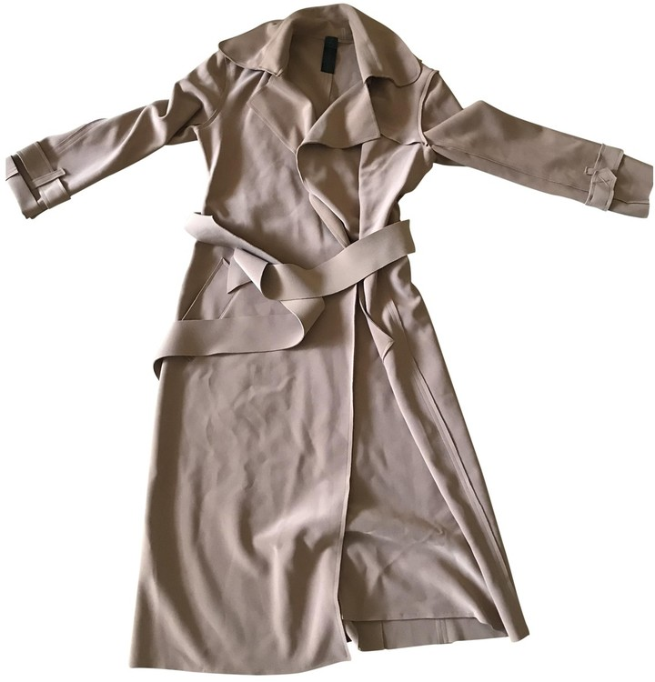 Thumbnail for your product : Norma Kamali Camel Synthetic Trench coats
