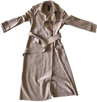Norma Kamali Camel Synthetic Trench coats