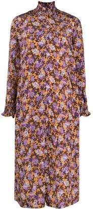 Baum und Pferdgarten Floral Print Shift Midi Dress
