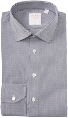 Thomas Pink Micro Check Print Dress Shirt