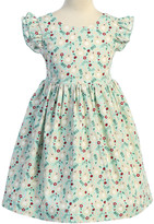 Kid's Dream Girls' Special Occasion Dresses Mint - Mint Bunny Bow-Accent Flutter-Sleeve A-Line Dress - Toddler & Girls