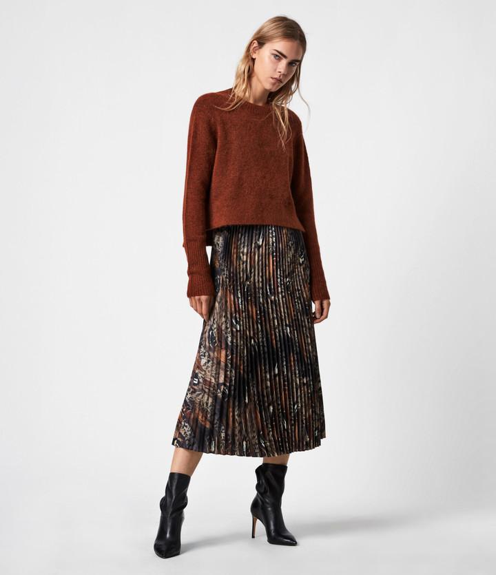 AllSaints Leowa Fusion 2-In-1 Dress