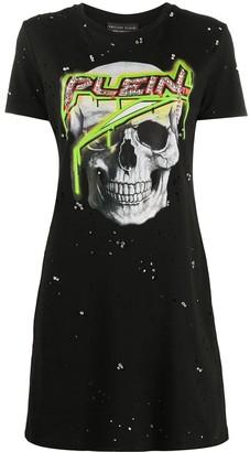 Philipp Plein crystal logo T-shirt dress