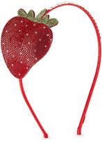 Bari Lynn Girls' Crystal Strawberry Headband
