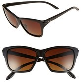 Oakley Women's 'Hold On' 58Mm Polarized Sunglasses - Matte Black/ Brown Polar
