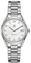 Tag Heuer Carrera Fine-Brushed And Polished Steel Bracelet Watch, WAR1314BA0778