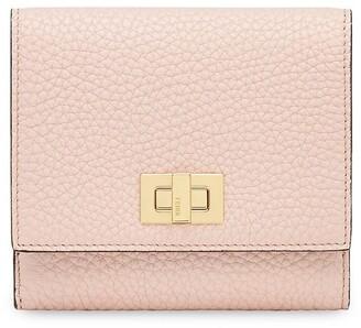 Fendi Textured Peekaboo Wallet