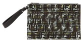 Fendi Ff And Camouflage-print Pouch - Mens - Green Multi