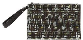 Fendi Ff Camouflage-print Technical-canvas Pouch - Green Multi