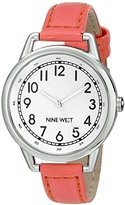 Nine West Women's NW/1699WTCO Easy-To-Read Watch with Coral-Tone Strap