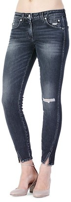 Amo Twist Ripped Skinny Ankle Jeans