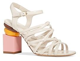 Salvatore Ferragamo Women's Leonor Strappy Block Heel Sandals