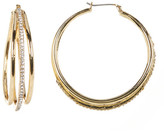 Jessica Simpson Accented Triple Layer Hoop Earrings