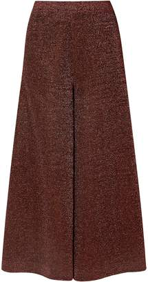 Missoni Cropped Silk-blend Lurex Wide-leg Pants