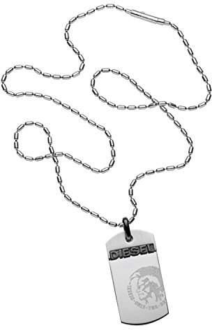 Diesel Men's Silver Necklace DX0007040