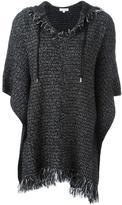 MICHAEL Michael Kors frayed edge hooded jumper - women - Linen/Flax/Acrylic/Nylon/Alpaca - M
