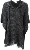 MICHAEL Michael Kors frayed edge hooded jumper