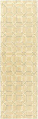 Longshore Tides Brock Geometric Handmade Hooked Wool Gold Area Rug Rug Size Runner 2 6 X 8 Shopstyle