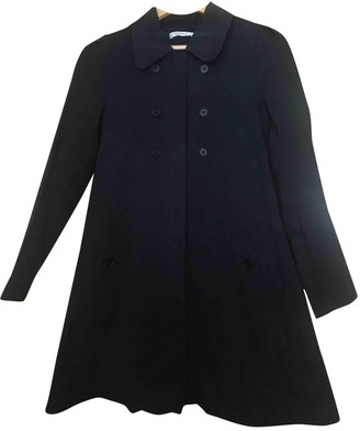 Masscob Navy Cotton Coat for Women