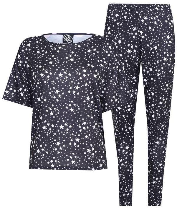 Thumbnail for your product : Fabric Star Print Black Pyjama Legging Set