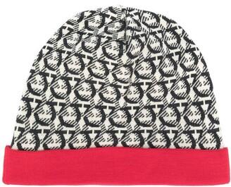 Salvatore Ferragamo Gancini jacquard-woven beanie hat