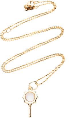 Monica Rich Kosann Pocket Watch Key 18K Gold And Diamond Necklace