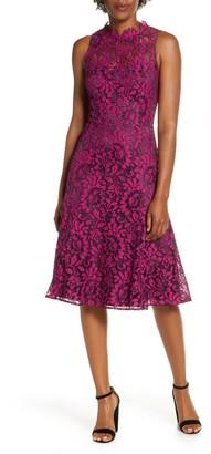 Brinker & Eliza Floral Lace Fit & Flare Dress