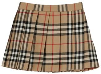 Burberry Kids Vintage Check Pleated Skirt