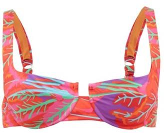 Reina Olga Brigitte Printed Underwired Bikini Top - Womens - Pink Print