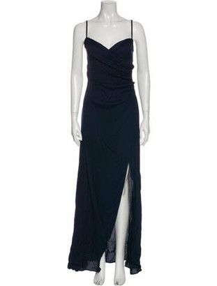 Reformation V-Neck Long Dress w/ Tags Blue