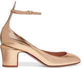 Valentino Tango Metallic Leather Pumps - Gold
