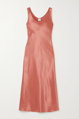 Max Mara Leisure Talete Satin Midi Dress - Coral