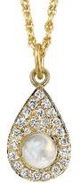Irene Neuwirth Rainbow Moonstone Drop Charm with Diamonds - Yellow Gold