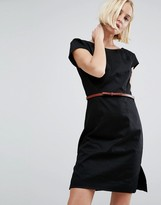 Vero Moda Belted Dress With Capped Sleeves