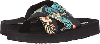 Rocket Dog Women's Moon Jungle Bloom Fabric Slide Sandal