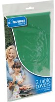 TWO REUSABLE PLASTIC TABLE CLOTH 47 x 47 GREEN by Kingfisher