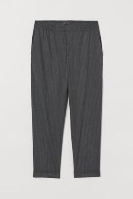 H&M Ankle-length Suit Pants - Gray