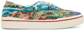 R 13 Blue Wave Island Lace-Up Sneakers