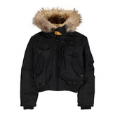 Parajumpers Faux Fur Hooded Gobi Girl Bomber Jacket