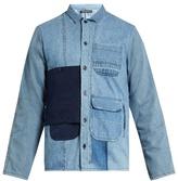 Longjourney Utility button-patch cotton-denim shirt