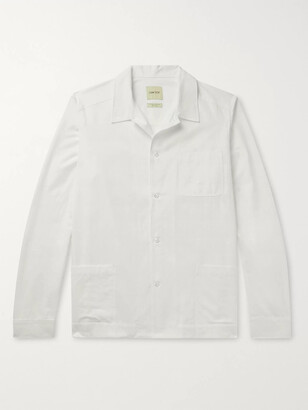 Camp-Collar Cotton-Poplin Shirt Jacket