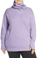 Zella Plus Size Women's 'Frosty' Asymmetrical Zip Pullover