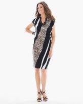 Chico's Mixed Animal-Print Short Dress