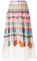 Temperley London printed pleated skirt