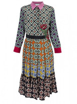 Gucci Patterned Pleated Dress