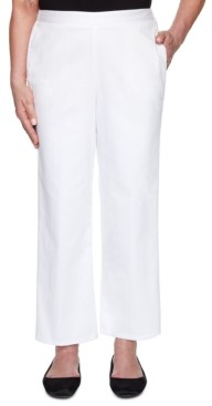 Alfred Dunner Petite Checkmate Denim Pull-On Pants